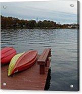 Kayaks By The Lake Nj Acrylic Print