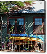 Kayaks Surfboards And Bikes - The Good Life Acrylic Print