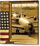 Kc-135 Stratotanker Rustic Flag Acrylic Print