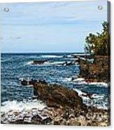 Keanae Coast - The Rugged Volcanic Coast Of The Keanae Peninsula In Maui. Acrylic Print
