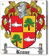 Keane Coat Of Arms Clare Ireland Acrylic Print