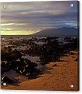 Keawakupu Beach Lava Evening Light Maui Hawaii Acrylic Print