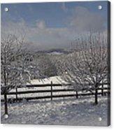 Kedron Valley After A Snow Acrylic Print