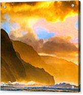 Ke'e Beach Sunset Acrylic Print