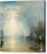 Keelmen Heaving In Coals By Moonlight Acrylic Print by Joseph Mallord William Turner