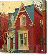 Keep A Light In The Window Til I Come Home Again Winter House Pointe St Charles City Scene Cspandau  Acrylic Print