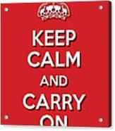 Keep Calm 2 Red Acrylic Print