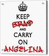 Keep Calm And Carry On 01 Acrylic Print