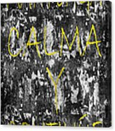 Keep Calm And Carry On Spanish Acrylic Print
