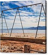 Keep Out No Playing Here Swing Set Playground Acrylic Print