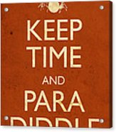 Keep Time And Paradiddle Poster Acrylic Print