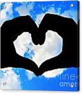 Keep Your Heart In The Clouds Acrylic Print