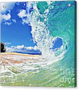 Keiki Beach Wave Acrylic Print by Paul Topp