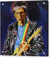 Keith Richards Of Rolling Stones Acrylic Print