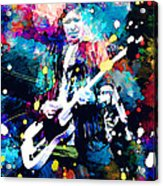 Keith Richards Acrylic Print by Rosalina Atanasova