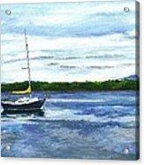 Kellogg's Bay Vt View Of Lake Champlain And Camel's Hump Acrylic Print