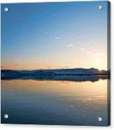 Kelowna Horizon Twin Suns Acrylic Print