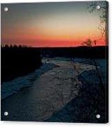 Kenai River Sunrise Acrylic Print