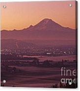 Kent Valley With Mount Rainier Acrylic Print