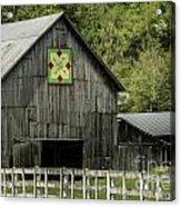 Kentucky Barn Quilt - 3 Acrylic Print