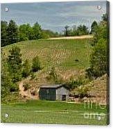 Kentucky Barn Quilt - Americana Star 2 Acrylic Print