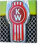 Kenworth Truck Emblem -1196c Acrylic Print