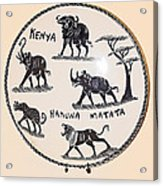 Kenya Animals Acrylic Print