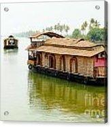 Kerala Houseboats Acrylic Print