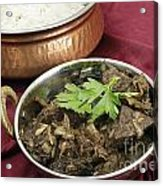 Kerala Mutton Liver Fry Horizontal Acrylic Print