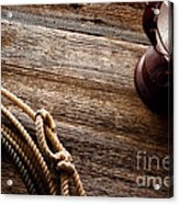 Kerosene Lamp And Lariat Acrylic Print