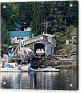 Ketchikan Buildings With Character 1 Acrylic Print