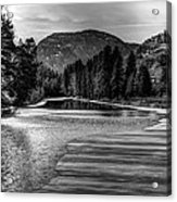 Kettle Black And White Acrylic Print