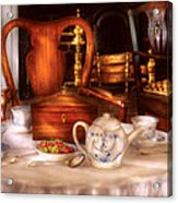 Kettle -  Have Some Tea - Chinese Tea Set Acrylic Print by Mike Savad