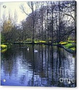 Keukenhof Lake Scene Acrylic Print