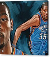 Kevin Durant Artwork Acrylic Print