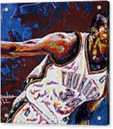 Kevin Durant Acrylic Print by Maria Arango