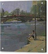 Kew Bridge, 2009 Oil On Canvas Acrylic Print