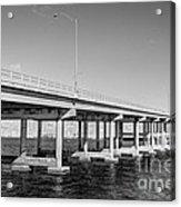 Key Biscayne Bridge Bw Acrylic Print