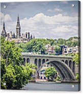 Key Bridge And Georgetown University Acrylic Print