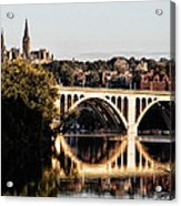Key Bridge And Georgetown University Washington Dc Acrylic Print