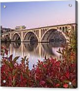 Graceful Feeling - Washington Dc Key Bridge Acrylic Print