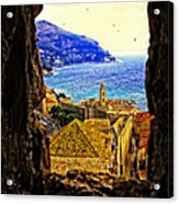 Key Hole View Of Dubrovnik 2 Acrylic Print
