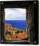 Key Hole View Of Dubrovnik Acrylic Print