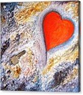 Key To My Heart Acrylic Print by Heather Matthews