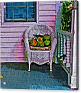 Key West Coconuts - Colorful House Porch Acrylic Print
