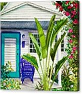Key West Cottage Watercolor Acrylic Print