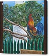 Key West Lighthouse Rooster Acrylic Print