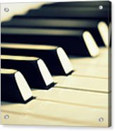 Keyboard Of A Piano Acrylic Print by Chevy Fleet