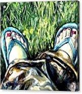 Khaki Pants And Flip Flops Acrylic Print