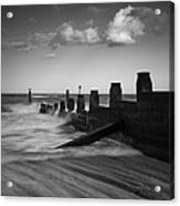 Kicked In The Groyne Acrylic Print